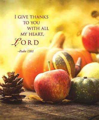I Give Thanks Thanksgiving Bulletin, Large (Pkg of 50)