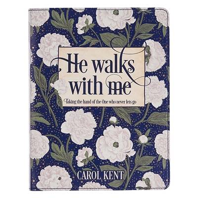 Picture of He Walks with Me White Floral