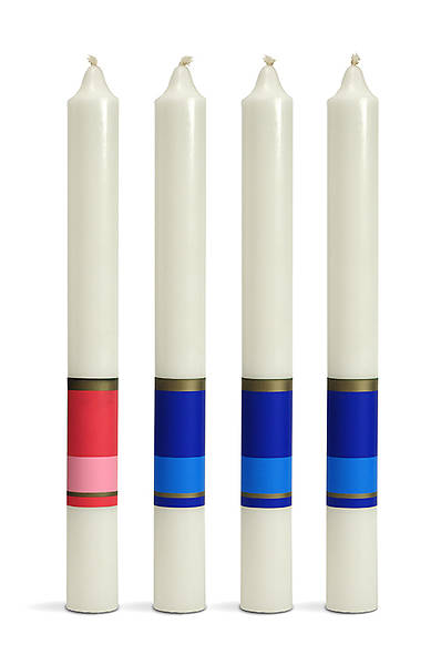 Rings of Hope Advent Candle Set - 3 Blue, 1 Pink
