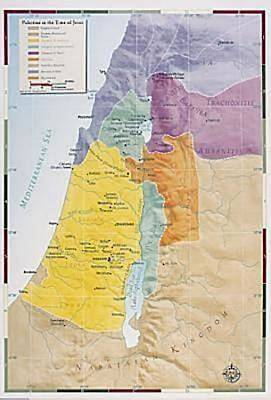 Picture of Abingdon Bible Land Map--Palestine in the Time of Jesus