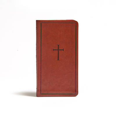 Picture of CSB Single-Column Pocket New Testament, Brown Leathertouch