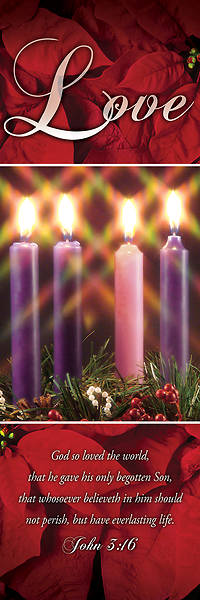 Picture of Love Advent Wreath 2' X 6' Fabric Banner