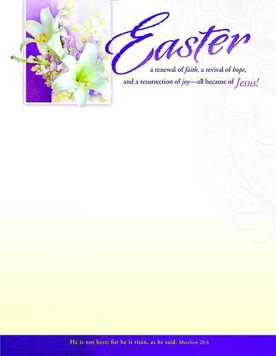Easter Lily Letterhead (Package of 100)