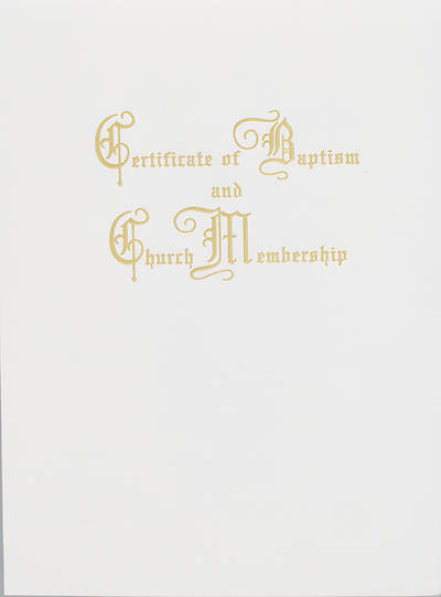 Traditional Baptism and Church Membership Certificate