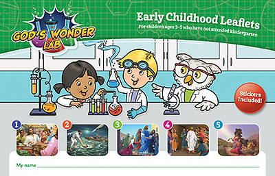Picture of Vacation Bible School VBS 2021 God's Wonder Lab Early Childhood Leaflets & Stickers