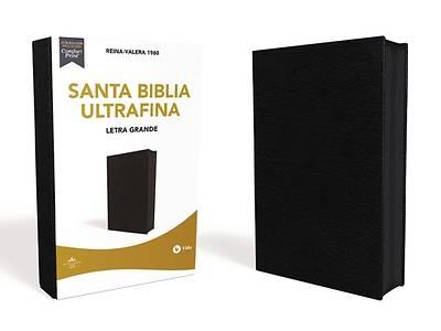 Picture of Reina Valera 1960 Santa Biblia Ultrafina Letra Grande, Piel Fabricada, Negro, Con Cierre, Edición Letra Roja