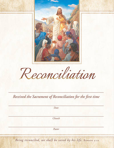 Picture of Reconciliation Certificate