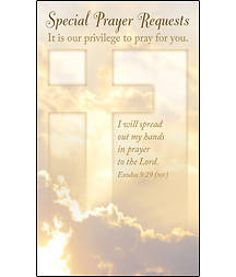 Special Prayer Request Pew Card (Package of 50)