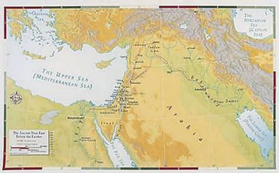 Abingdon Bible Land Map--Ancient Near East Before the Exodus