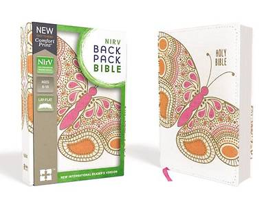 Picture of NIRV Backpack Bible, Flexcover, Pink Butterfly