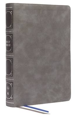 Picture of Nkjv, Reference Bible, Classic Verse-By-Verse, Center-Column, Leathersoft, Gray, Red Letter, Comfort Print