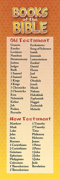 Books of the Bible Kids General Bookmark