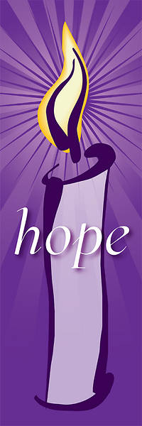 Contemporary Advent Series Hope Banner 2X6