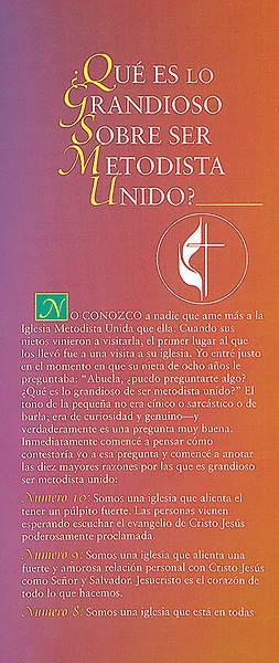 Picture of Que es lo grandioso sobre ser Metodista Unido - folleto electronico