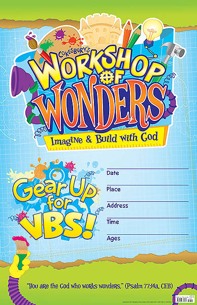 Vacation Bible School (VBS) 2014 Workshop of Wonders Large Promotional Poster