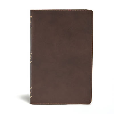 Picture of KJV Ultrathin Reference Bible, Brown Genuine Leather