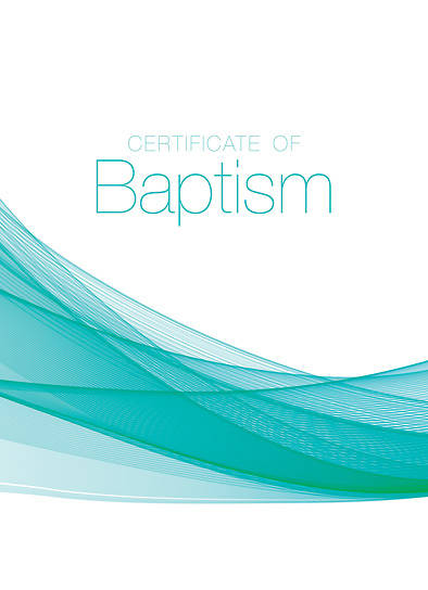 Picture of Certificate Of Baptism Certificate John 1:12 - Pkg of 6