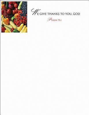We Give Thanks/Thanksgiving Letterhead (Pkg of 50)