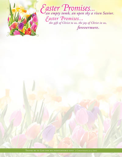 Picture of Easter Promise Letterhead