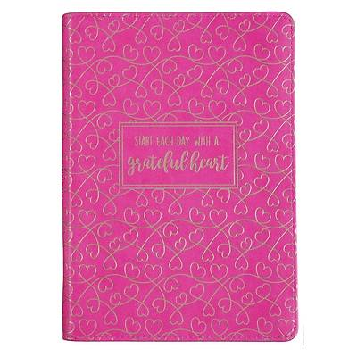 Picture of Journal Classic Zippered Luxleather Grateful Heart