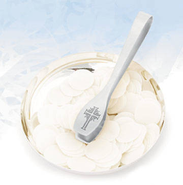 Serve-eze Wafer Dispenser, Engraved Stainless Steel