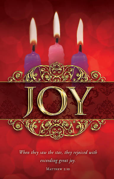 Advent Bulletin Week 3 Matthew 2:10 Regular (Package of 100)