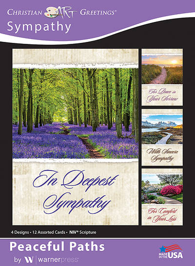 Picture of Peaceful Paths Sympathy Boxed Cards (Box of 12)