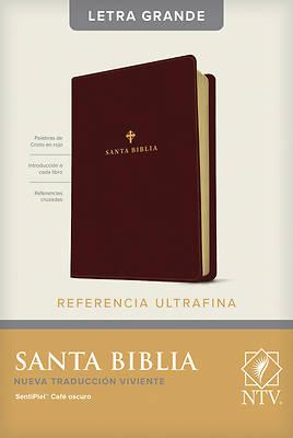 Picture of Santa Biblia Ntv, Edicin de Referencia Ultrafina, Letra Grande (Letra Roja, Sentipiel, Caf Oscuro )