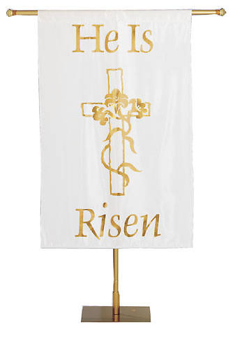 Picture of He Is Risen Foil Banner