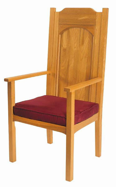 Picture of Abbey Collection Celebrant Chair - Medium Oak Stain