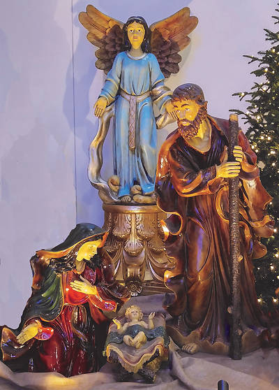 Life Size Holy Family With Angel Set 4 Pieces