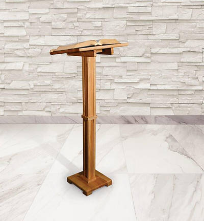 Standing Lectern - Pecan Stain