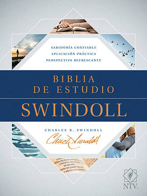 Picture of Biblia de Estudio Swindoll Ntv (Sentipiel, Café/Azul/Turquesa)