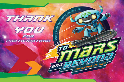 Vacation Bible School (VBS) 2019 To Mars and Beyond Thank You Postcards (Pkg of 24)