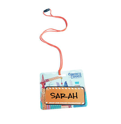 Picture of Vacation Bible School (VBS) 2020 Concrete and Cranes Name Tags Pkg 20