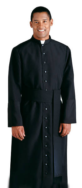 "Picture of H-19 Cassock Qwick-Ship Black 50""-53"" 6'0""-6'2"" 35"""