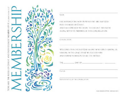 Picture of Community Membership Certificate (Package of 12)
