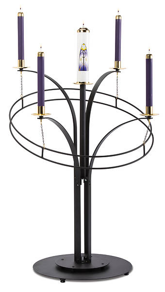 CONTEMPORARY ADVENT WREATH WITH 3