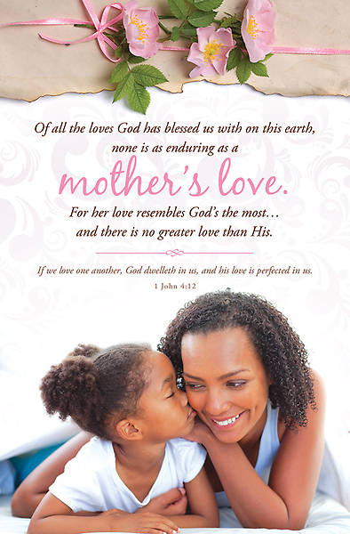 Mothers Day Heritage Bulletin 1 John 4:12 Regular (Package of 100)