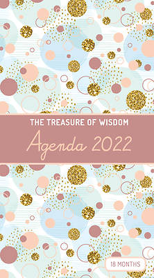 Picture of The Treasure of Wisdom - 2022 Pocket Planner - Bubbles and Gold - Copper Rose
