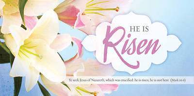 He Is Risen Celebrate With Us Offering Envelope Pkg of 100