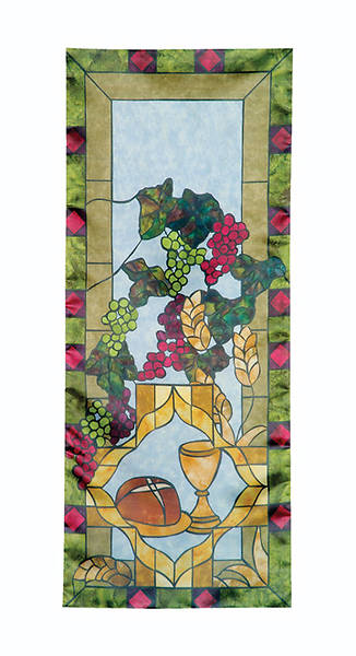 Picture of Stained Glass Communion Parament Set Pulpit Scarf