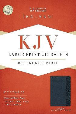 KJV Large Print Ultrathin Reference Bible, Slate Blue Leathertouch Indexed