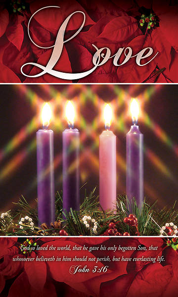 Picture of Love Advent Wreath 3' X 5' Fabric Banner