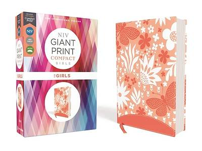 Picture of Niv, Giant Print Compact Bible for Girls, Leathersoft, Coral, Red Letter Edition, Comfort Print