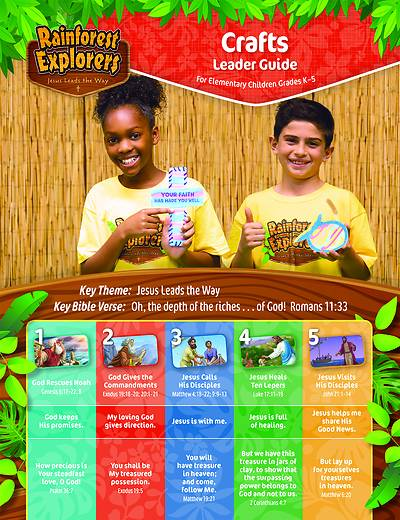 Picture of Vacation Bible School VBS 2021 Rainforest Explorers Craft Leader Guide