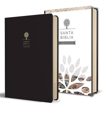 Picture of Santa Biblia Rvr 1960 - Letra Grande, Imitación Piel Negra Con Imágenes de Tierra Santa / Spanish Holy Bible Rvr 1960 - Large Print