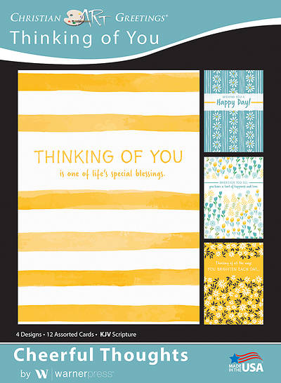 Picture of Cheerful Thoughts Thinking of You Boxed Cards (Box of 12)