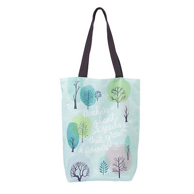 Picture of Teachers Plant Seeds That Grow Forever Canvas Tote Bag
