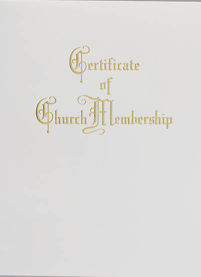 Traditional Steel-Engraved Church Membership Certificate